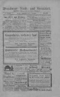 Wreschener Stadt und Kreisblatt: amtlicher Anzeiger für den Kreis Wreschen 1919.09.27 Nr114