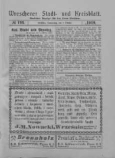 Wreschener Stadt und Kreisblatt: amtlicher Anzeiger für den Kreis Wreschen 1919.10.02 Nr116