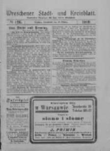Wreschener Stadt und Kreisblatt: amtlicher Anzeiger für den Kreis Wreschen 1919.10.25 Nr126