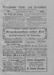 Wreschener Stadt und Kreisblatt: amtlicher Anzeiger für den Kreis Wreschen 1919.11.01 Nr129