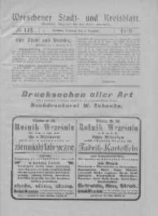 Wreschener Stadt und Kreisblatt: amtlicher Anzeiger für den Kreis Wreschen 1919.12.02 Nr142