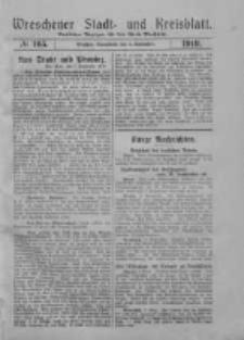 Wreschener Stadt und Kreisblatt: amtlicher Anzeiger für den Kreis Wreschen 1919.09.06 Nr105