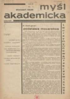 Myśl Akademicka 1936 styczeń R.6 Nr1