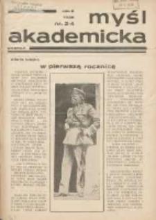Myśl Akademicka 1936 R.6 Nr3/4