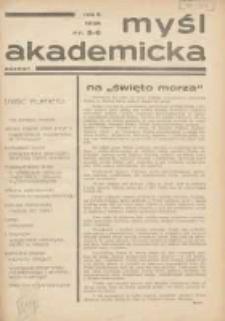 Myśl Akademicka 1936 R.6 Nr5/6