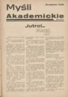 Myśl Akademicka 1936 grudzień R.6 Nr12