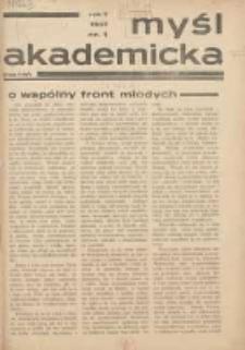 Myśl Akademicka 1937 R.7 Nr1