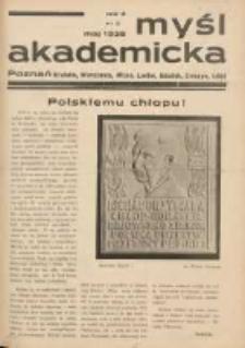 Myśl Akademicka 1938 maj R.8 Nr5