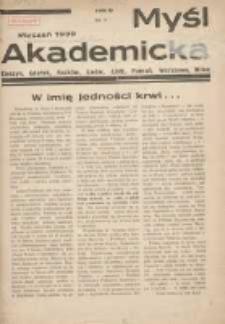 Myśl Akademicka 1939 styczeń R.9 Nr1