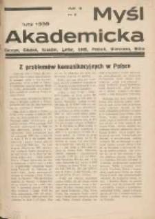 Myśl Akademicka 1939 luty R.9 Nr2