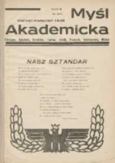 Myśl Akademicka 1939 marzec/kwiecień R.9 Nr3/4