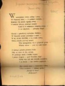 Wiersz pożegnalny prof. drowi B. Wicherkiewiczowi