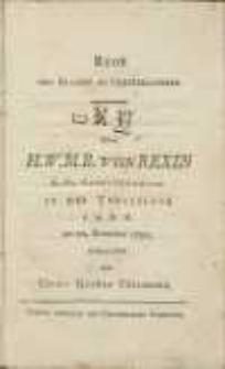 Rede vom Glauben an Unterblichkeit : dem H. W. M. B. von Rexin K. Pr. Geheimdenrath in der Trauerloge z. g. H. K. am 21. December 1790 gehalten