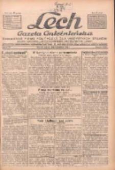 """Lech.Gazeta Gnieźnieńska: codzienne pismo polityczne dla wszystkich stanów. Dodatki: tygodniowy """"Lechita"""" i powieściowy oraz dwutygodnik """"Leszek"""" 1932.04.09 R.33 Nr82"""