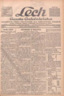 """Lech.Gazeta Gnieźnieńska: codzienne pismo polityczne dla wszystkich stanów. Dodatki: tygodniowy """"Lechita"""" i powieściowy oraz dwutygodnik """"Leszek"""" 1932.04.26 R.33 Nr96"""