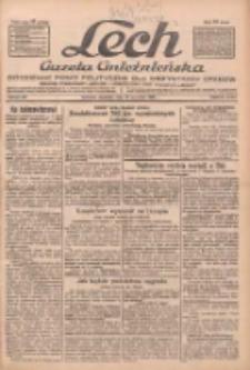 """Lech.Gazeta Gnieźnieńska: codzienne pismo polityczne dla wszystkich stanów. Dodatki: tygodniowy """"Lechita"""" i powieściowy oraz dwutygodnik """"Leszek"""" 1932.09.18 R.33 Nr215"""
