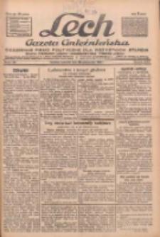 """Lech.Gazeta Gnieźnieńska: codzienne pismo polityczne dla wszystkich stanów. Dodatki: tygodniowy """"Lechita"""" i powieściowy oraz dwutygodnik """"Leszek"""" 1932.10.20 R33 Nr242"""
