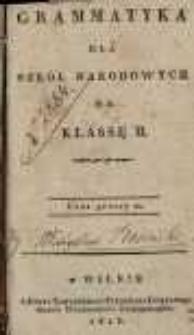 Grammatyka dla szkół narodowych na klassę II.