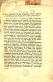 Kto ilustrował najstarszy druk słowiański, wydany we Lwowie?