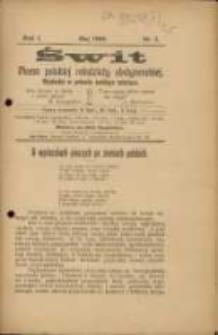 Świt. R. 1, 1908, nr 5