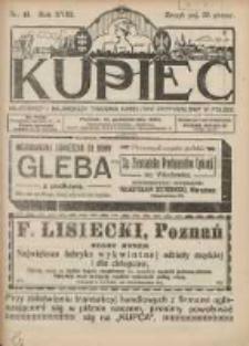 Kupiec Tygodnik: najstarszy i największy tygodnik kupiecko- przemysłowy w Polsce 1924.10.15 R.18 Nr41