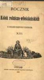 Rocznik Kółek Rolniczo-Włościańskich w Wielkiem Księstwie Poznańskiem. 1887 T.12