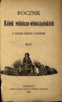 Rocznik Kółek Rolniczo-Włościańskich w Wielkiem Księstwie Poznańskiem. 1888 T.13