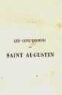 Les Confessions de Saint Augustin