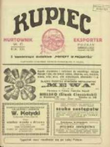 Kupiec Tygodnik: najstarszy tygodnik kupiecko- przemysłowy w Polsce 1927.04.15 R.21 Nr15; urzędowy organ publikacyjny Targów Wschodnich we Lwowie