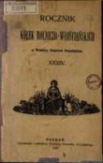 Rocznik Kółek Rolniczo-Włościańskich w Wielkiem Księstwie Poznańskiem. 1908 T.34