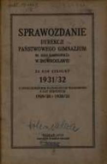 1931/32 z uzględnieniem ważnijszych wiadomości z lat szkolnych 1929/30 i 1930/31 (1932)