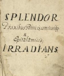 """""""Splendor praxibus politicis, comitialibus et epiotalamicis irradians."""""""