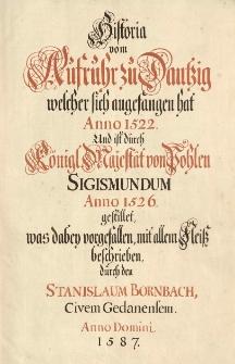 Kroniki i materiały historyczne do dziejów Gdańska w XVI-XVII w.