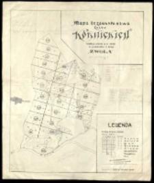 Mapa drzewostanowa lasów kórnickich według stanu z r. 1923 [...].
