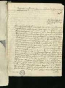Listy rożnych w 1733. Rozprawa o Mennicy