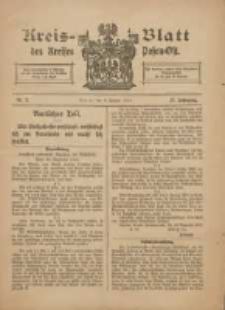 Kreis-Blatt des Kreises Posen-Ost 1915.01.09 Jg.27 Nr2