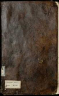Manuskrypt Listow Pięknych w Rożnych Materyach In Compendium Zebranych zapisany in Anno 1756