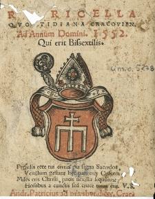 Rubricella quotidiana Cracoviensis ad annum 1552 bissextilem