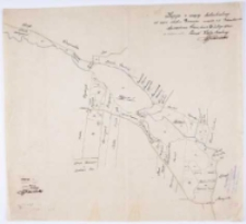 Kopia z mapy katastralnej częsci obrębu Borówiec mapa 1 i 2 Podziałka [...]. Sporządzono [...].