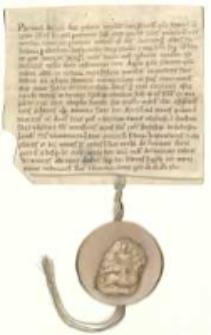 [Poświadczenie książęce udowodnienia prawa własności do Panigrodzia przez Hartunga, opata klasztoru w Łeknie. Jednoczesne zatwierdzenie granic posiadłości Panigrodzie.]