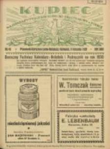 Kupiec: najstarszy tygodnik kupiecko - przemysłowy w Polsce 1929.11.09 R.23 Nr45