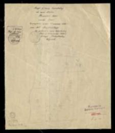Kopia z mapy katastralnej [...] części obrębu Runowo [...] sporządzona [...] przez T. Szczeblińskiego.
