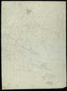 Kopja z mapy katastralnej obrębu Gądki...przekopiował T. Szczebliński