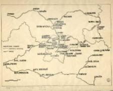 [Położenie linii kolejowych Chabówka - Zakopane oraz Nowy Targ - Sucha Hora.]