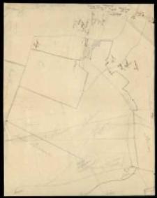 [Rękopiśmienny szkic, na którym zaznaczono nazwiska właścicieli gruntów położonych w rewirze Czołowskim].