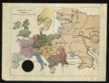 Najnowsza mapa Europy. Wydanie djabelskiego Jeneralnego Sztabu.