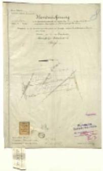 Kreis Schroda, Gemeinde - bezirk Trzebiesławki [...] eingetragenen Liegenschaften der Schubert Julie [...] Ausgefertigt [...] Voigt.