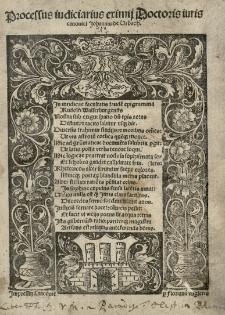 Processus iudiciarius [...] Johannis de Urbach