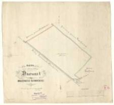 Mappa części odciętej koleją od rewiru Drapałka I, majętności kórnickiej. Pomierzył i wyrysował [...] Antoni Kausz [...].