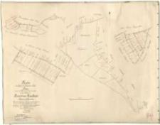 Kopie der Karte mit folgendem Titel: Plan von den Abfindungs-Ländereien für einige Wirthe von Borowcer-Hauland Kreises Schrimm [...]. Aus den [...] Charten [...] von Ziehlke. [...] Angefertigt [...] durch Liedtke [...]. Geprüft [...] Heidelich.